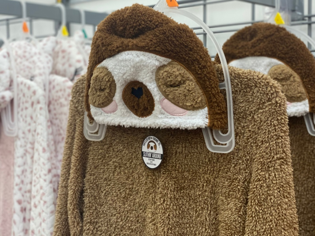 sloth union suit