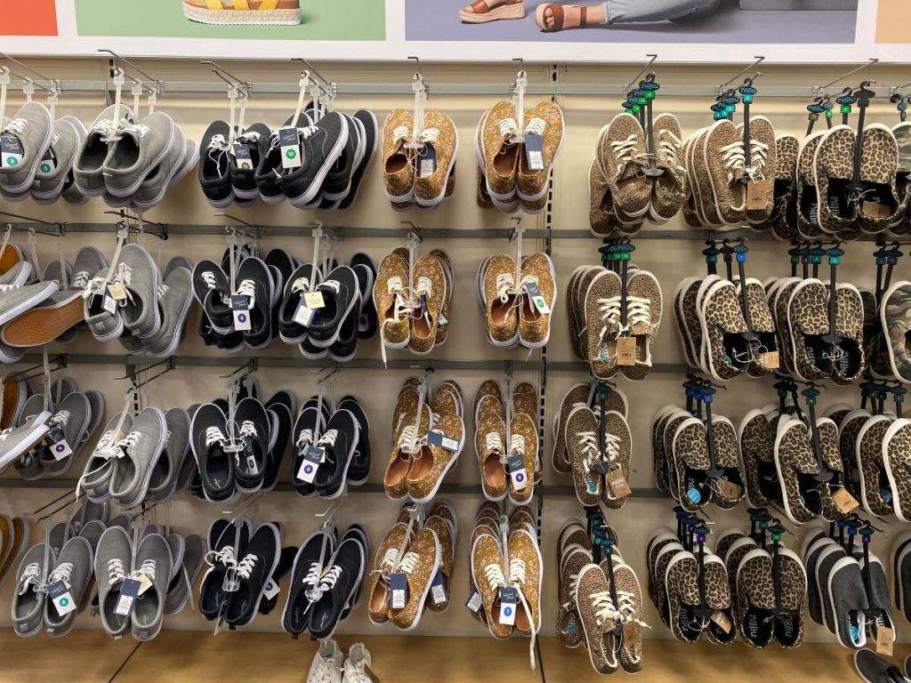 display of shoes at Target