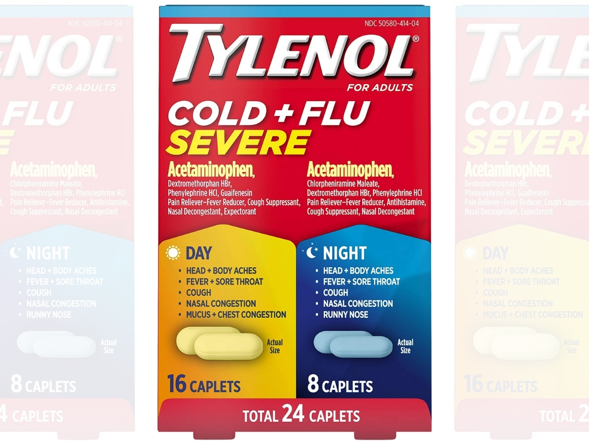 Tylenol Cold + Flu Severe Day & Night Caplets24-Count