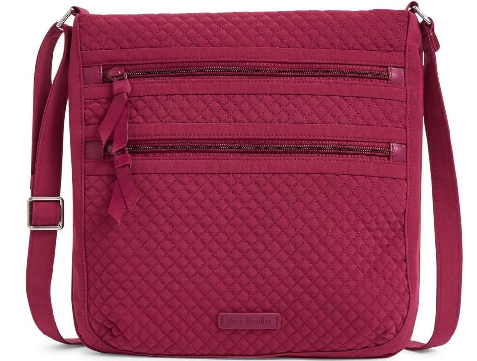 Vera Bradley Triple Zip Hipster Crossbody Bag