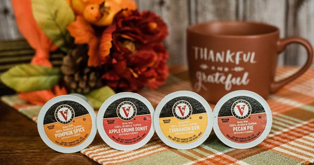 four autumn-flavored k-cups