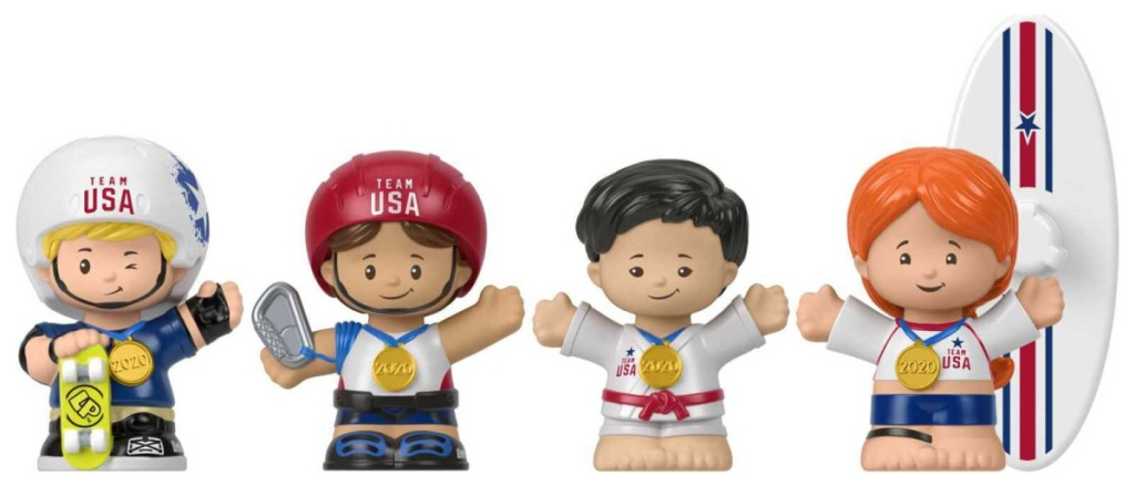 little people fisher price olympics set