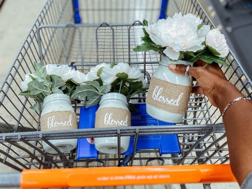 Walmart Farm House Blessed Floral Vases