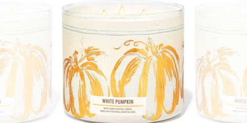 FREE Bath & Body Works 3-Wick Pumpkin Candle w/ ANY Online Purchase (Over $25 Value!)
