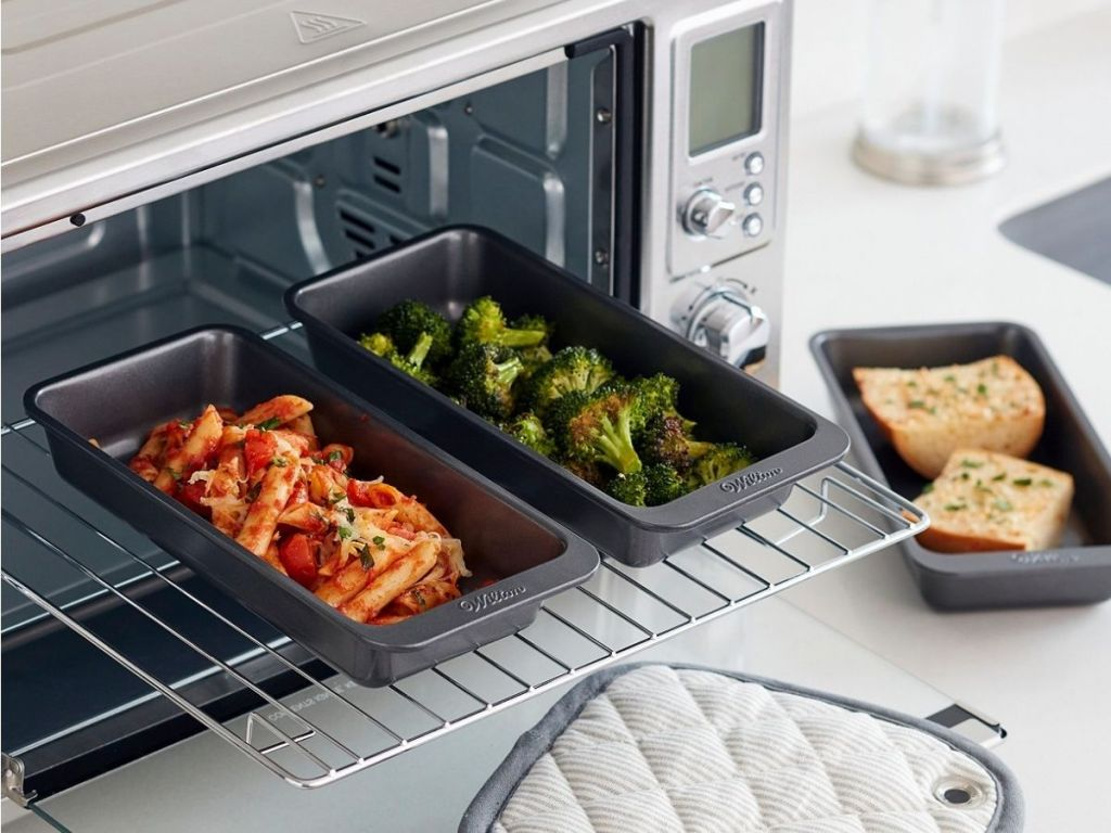 Wilton Baking Pans being used in a convection oven