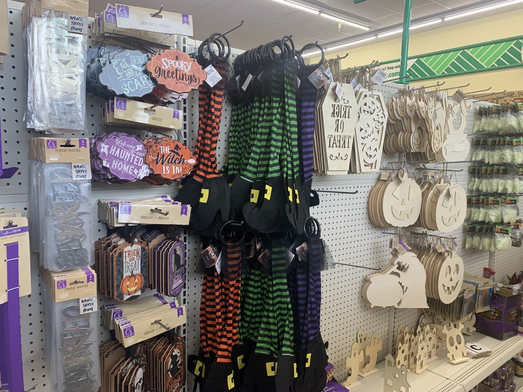 Witch Door Hangers from Dollar Tree