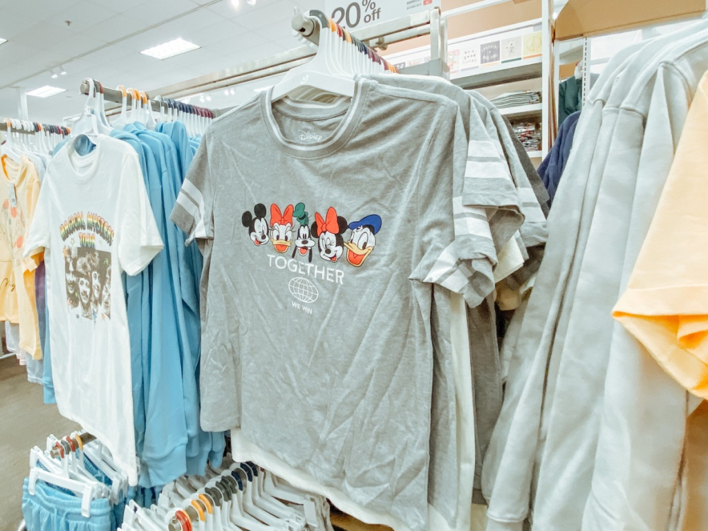 Disney characters graphic tees