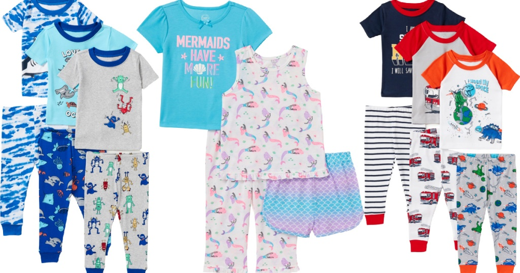 Wonder Nation Baby & Toddler Snug Fit Cotton Pajama Sets