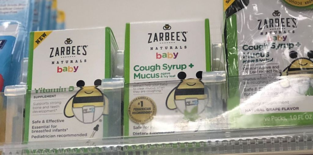 Zarbee's Baby products on a shelf