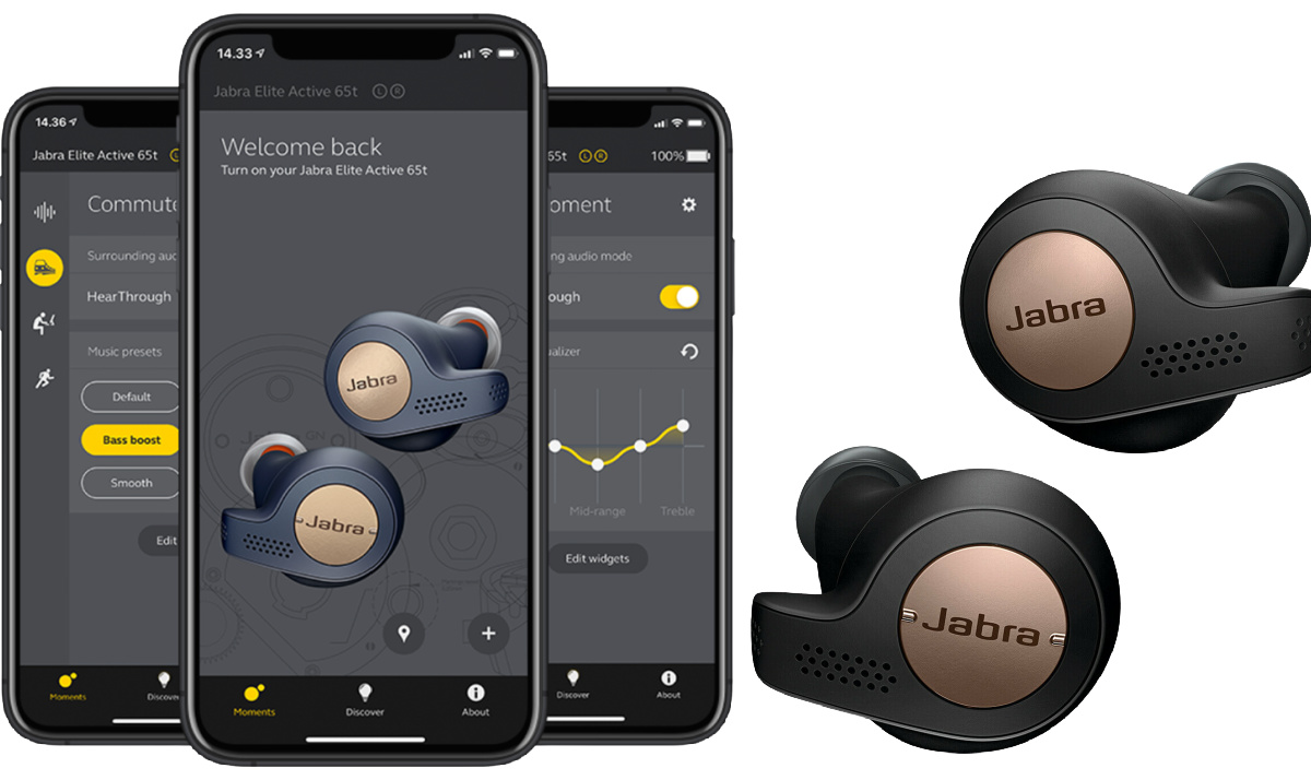 abra Elite Active 65t Wireless Earbuds with Charging Case refurbished