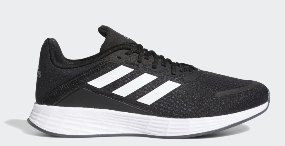 white and black adidas sneaker