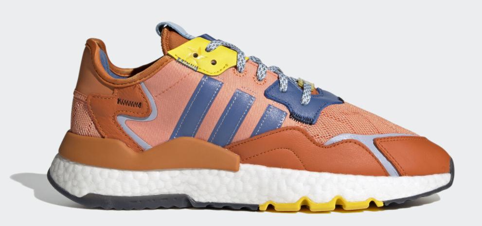 multicolored adidas sneaker