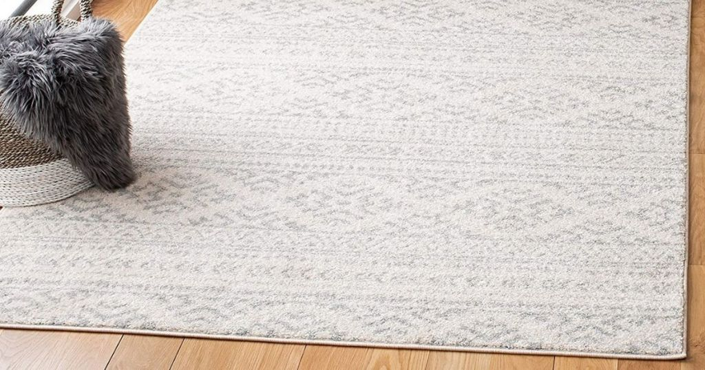 ivory and gray area rug