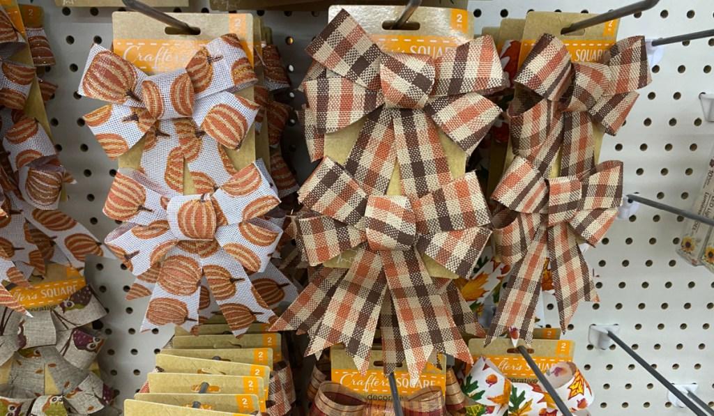 autumn themed bows