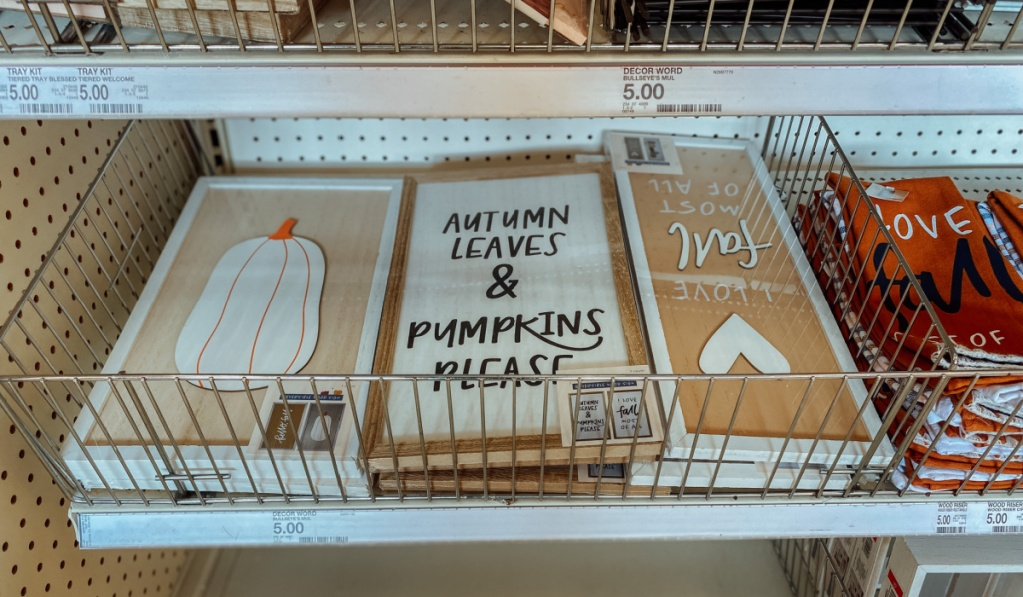 Target fall signs