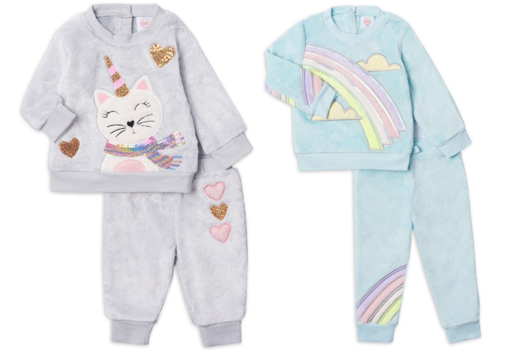 two baby girls jogger sets