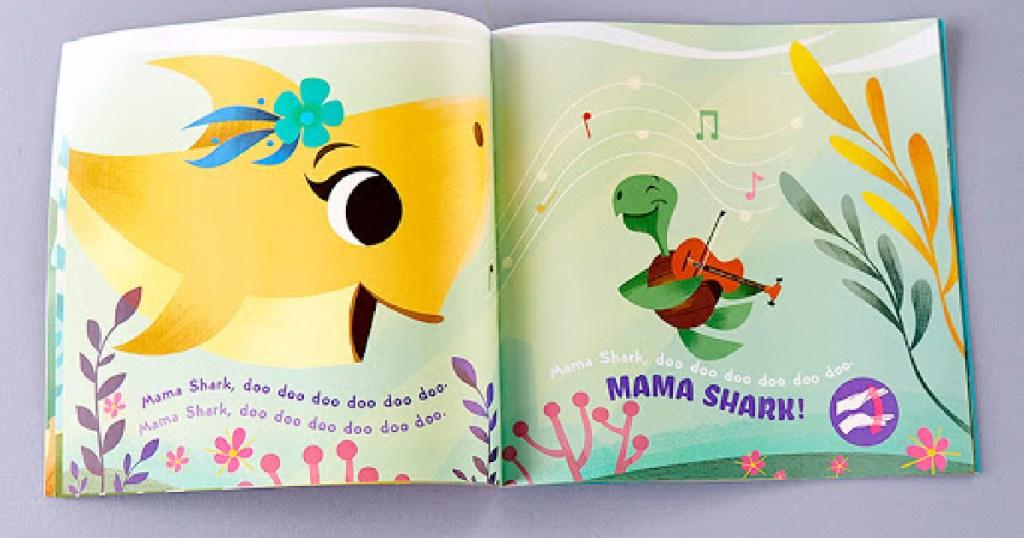 baby shark book open