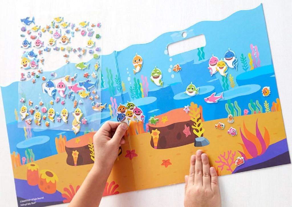 baby shark sticker book