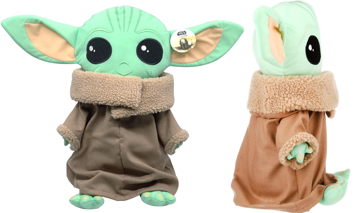 front and side baby yoda plush