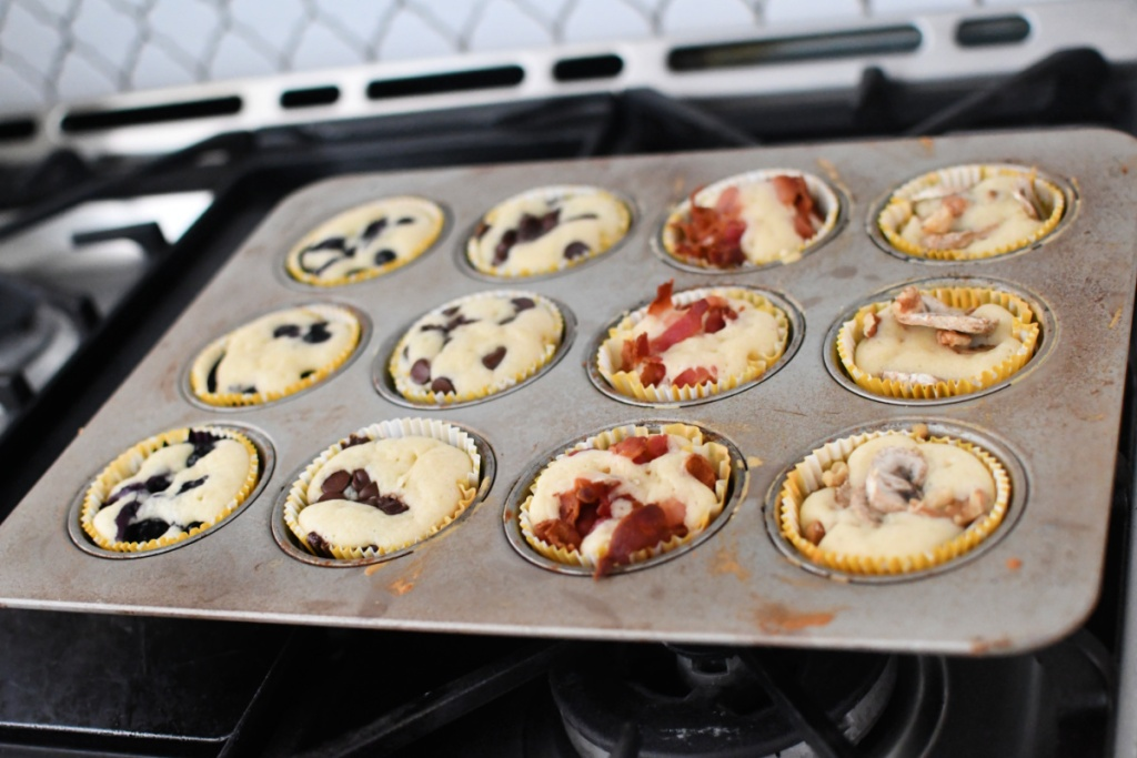 baked pancake muffins out of the oven