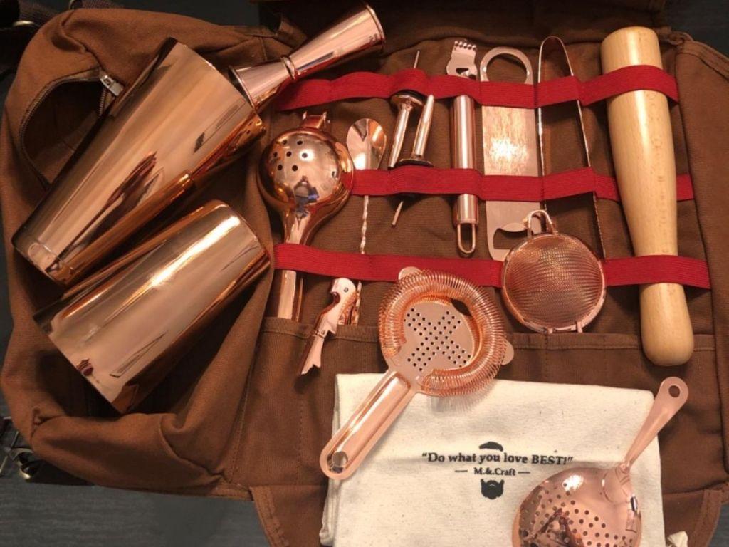 copper bar bag set