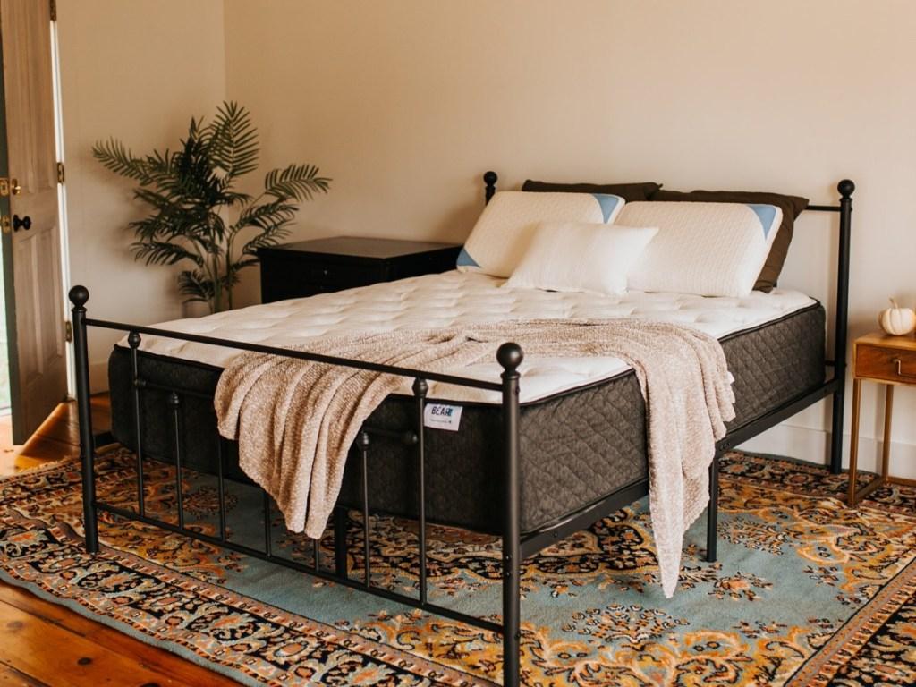 mattress on bed frame