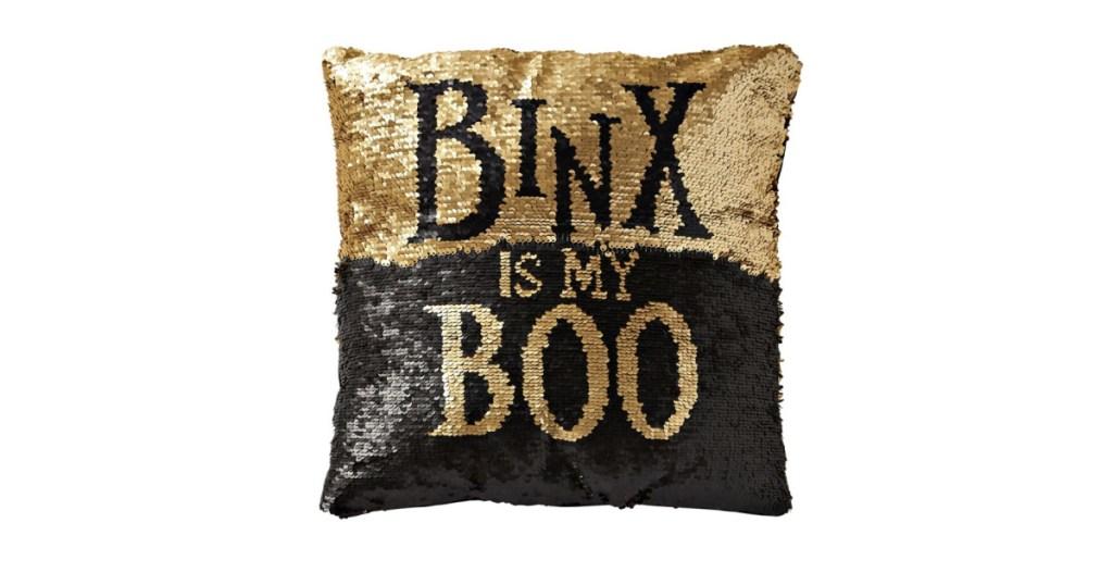 Binx Halloween pillow