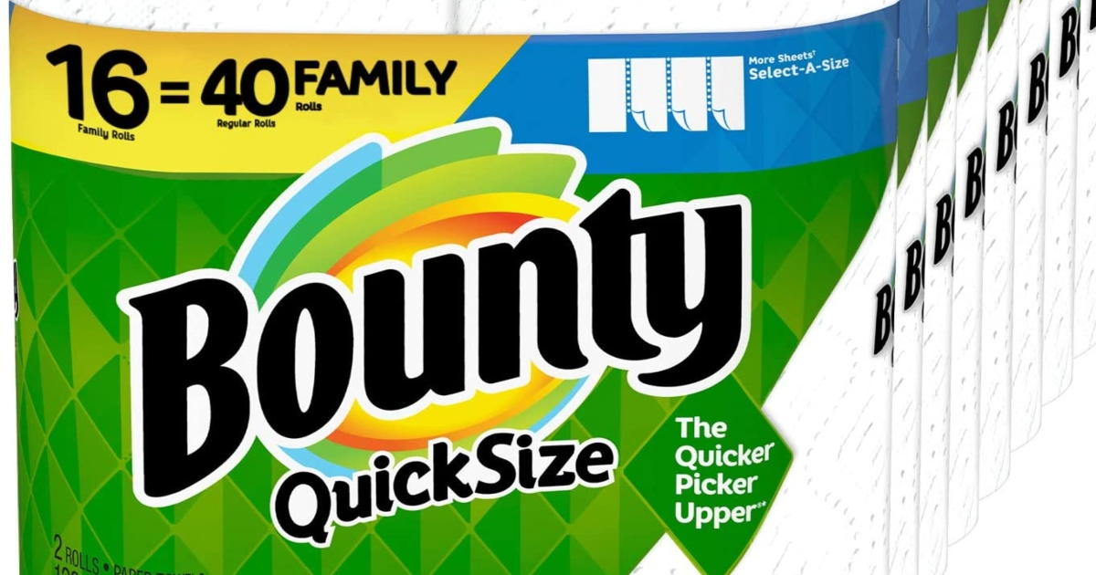 Bounty paper towels package
