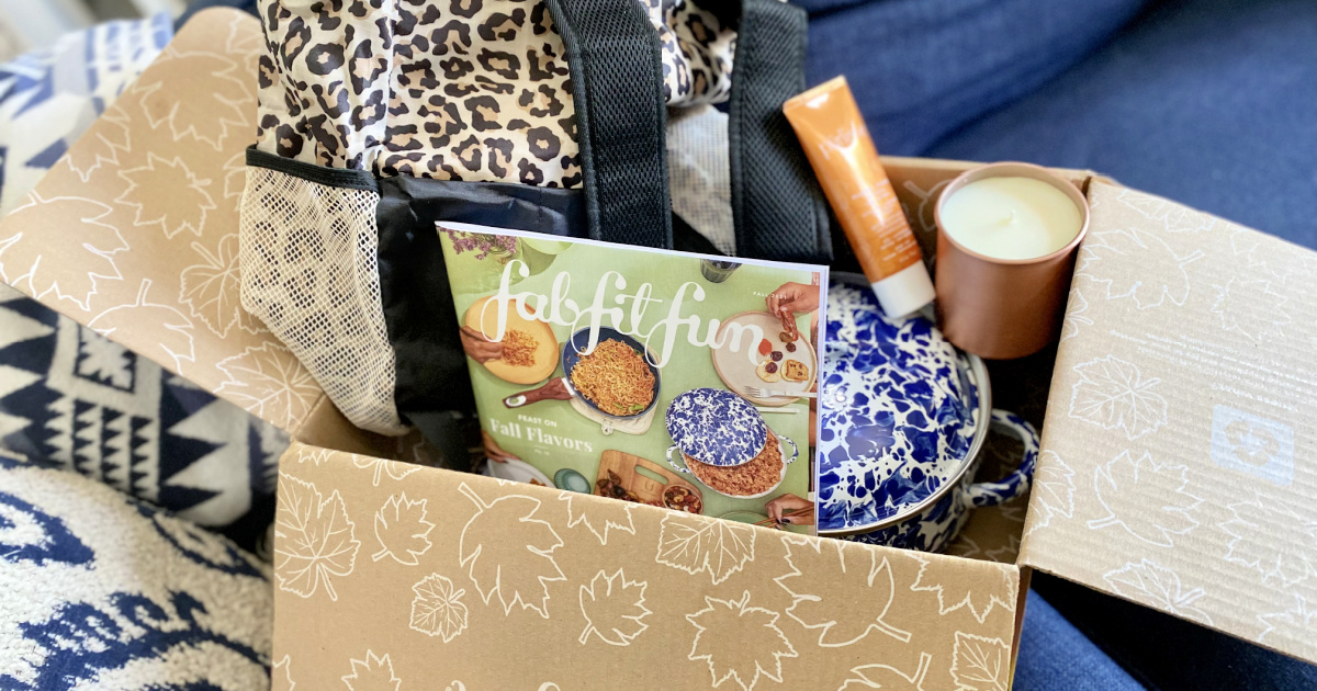 box with fab fit fun fall items