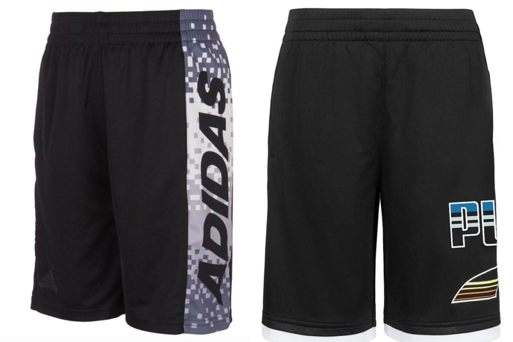 2 boys basketball shorts