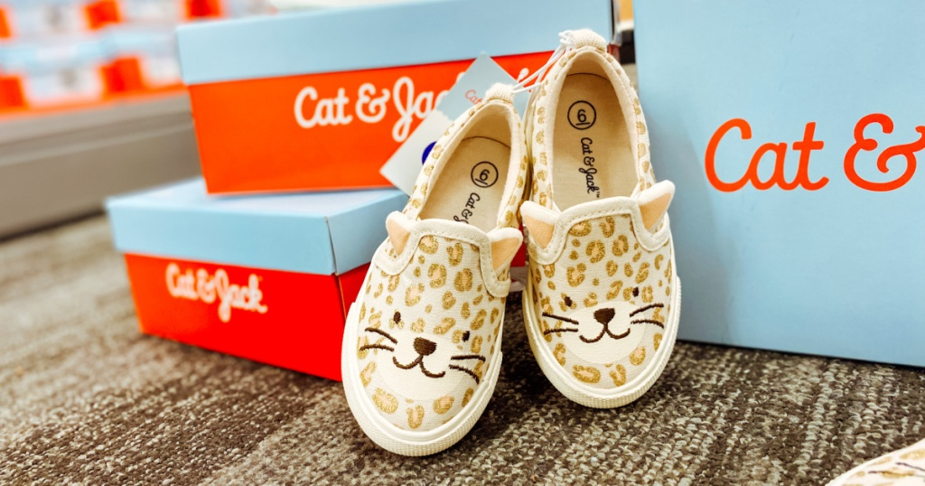 cat & jack leopard shoes in store at Target