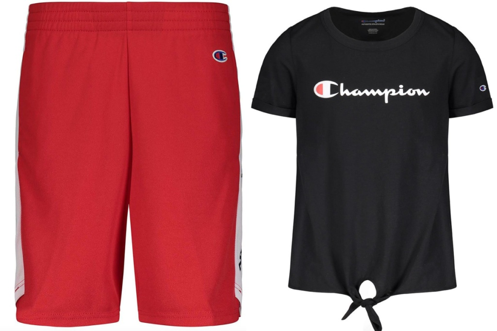 champion kids gear shorts and top
