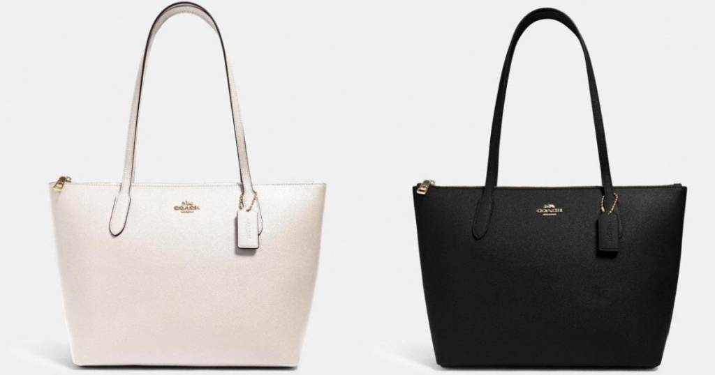 white and black tote bags