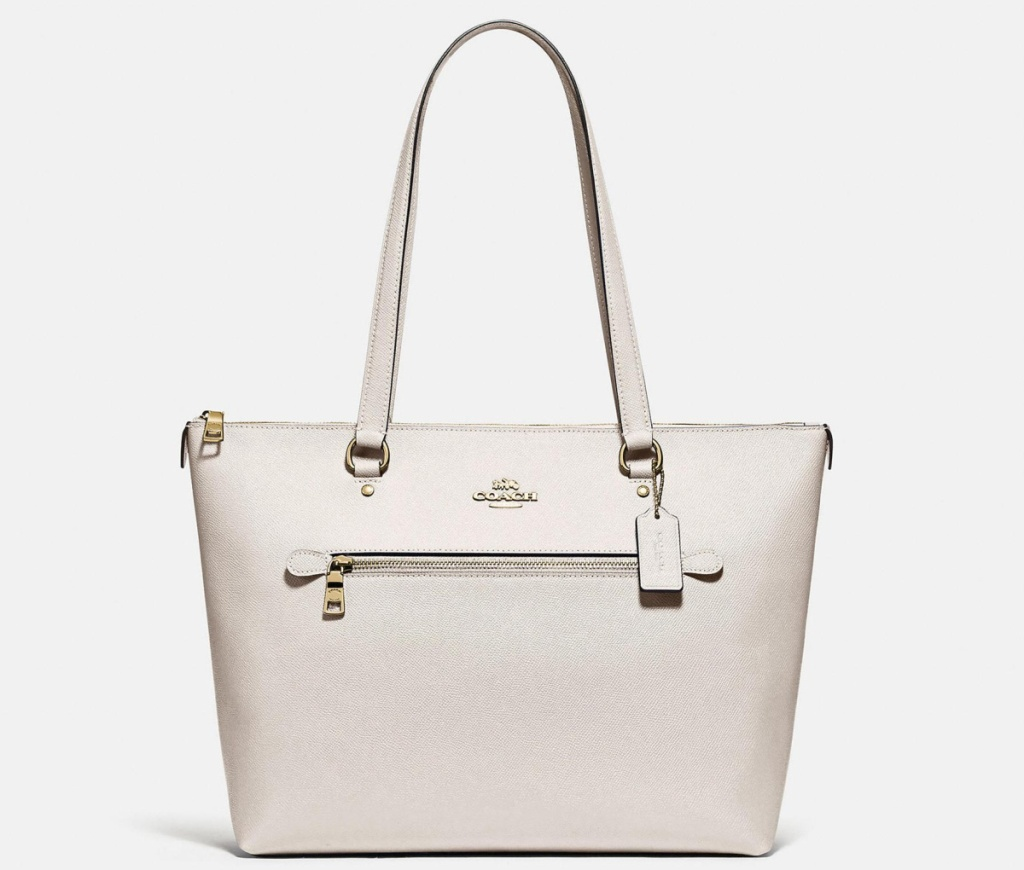 coach gallery tote in white