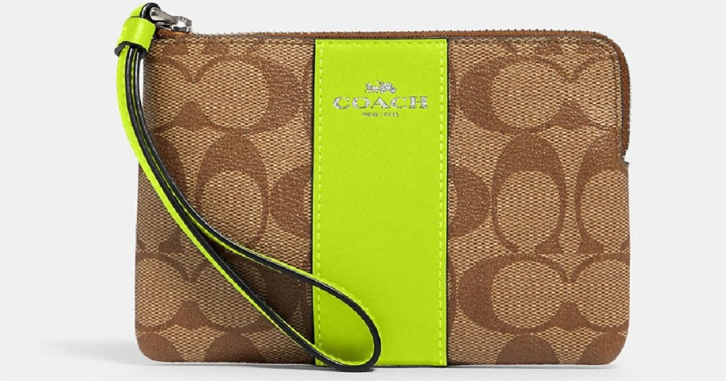 coach wristlet in lime