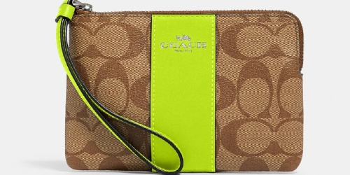 Coach Corner Zip Wristlets from $23.40 Shipped (Regularly $78) + Up to 70% Off More Bags & Accessories