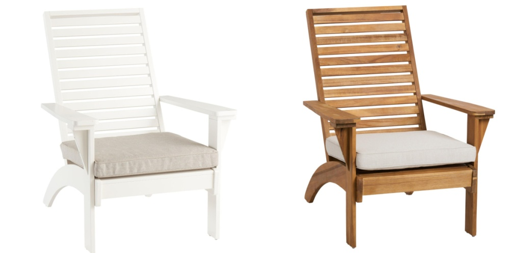white and brown lounge chairs