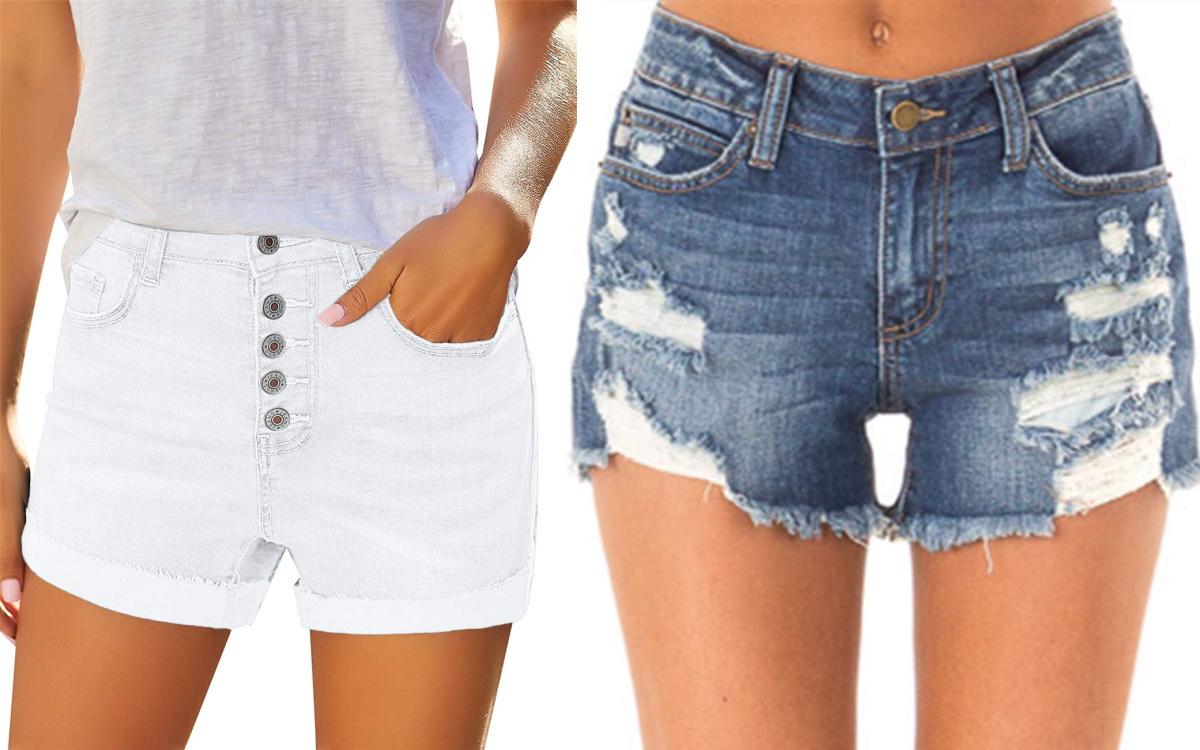 white and blue denim shorts 2