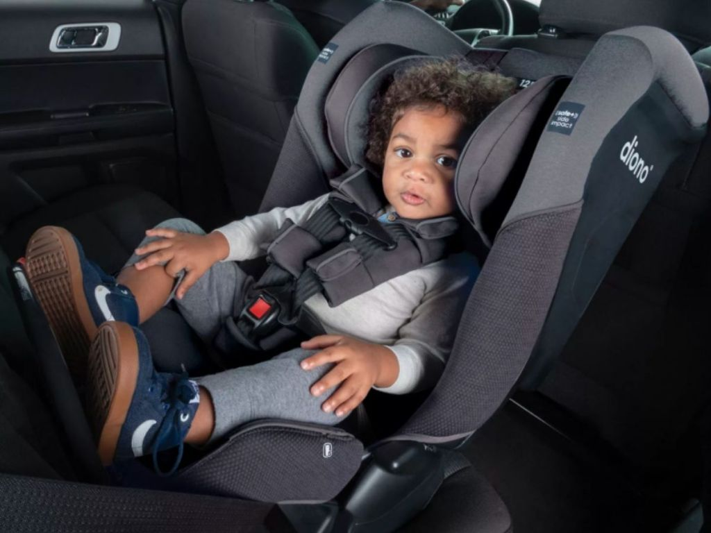 baby in Diono carseat