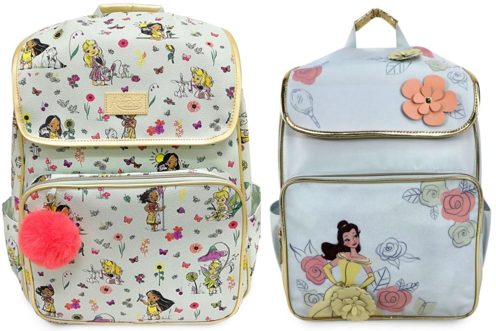 two disney backpacks