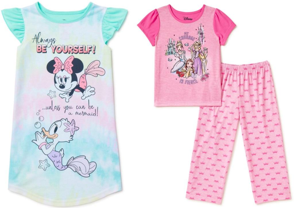 disney girls pajamas