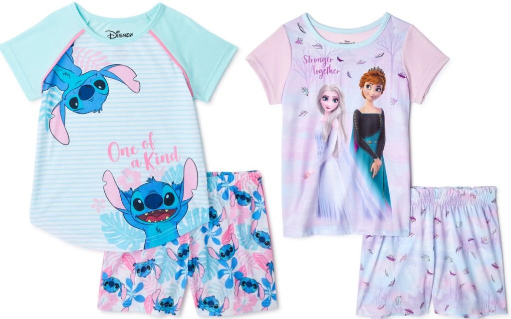 disney girls shorts pajamas