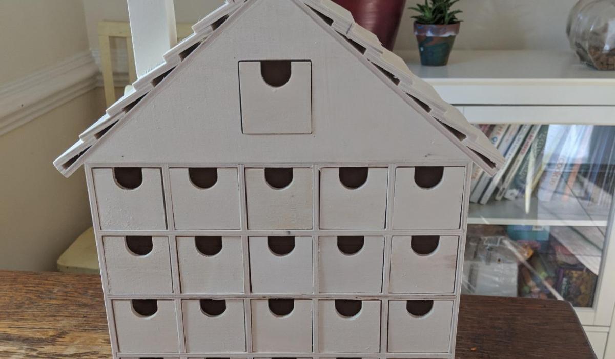 DIY advent calendar base