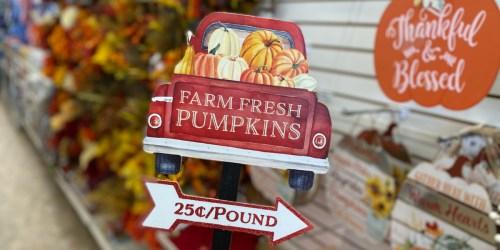 Fall Decor & Craft Supplies Just $1 at Dollar Tree