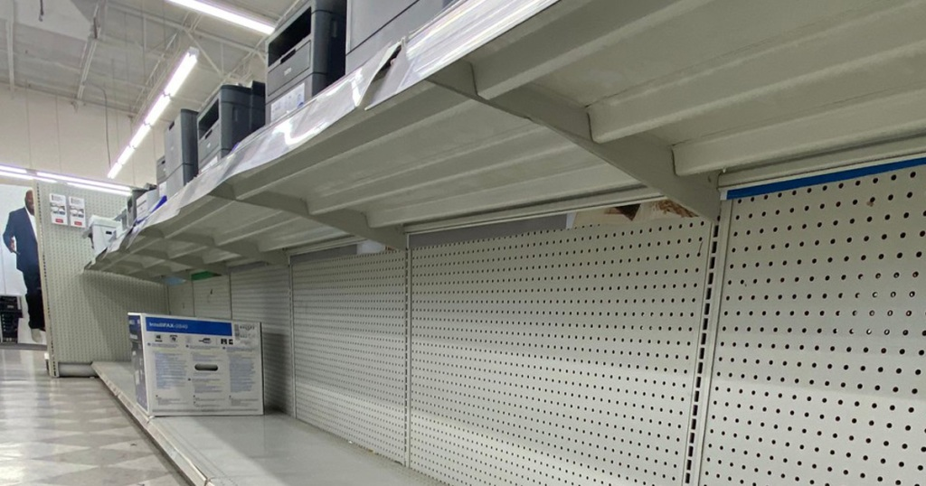 empty store shelves due to chip shortage