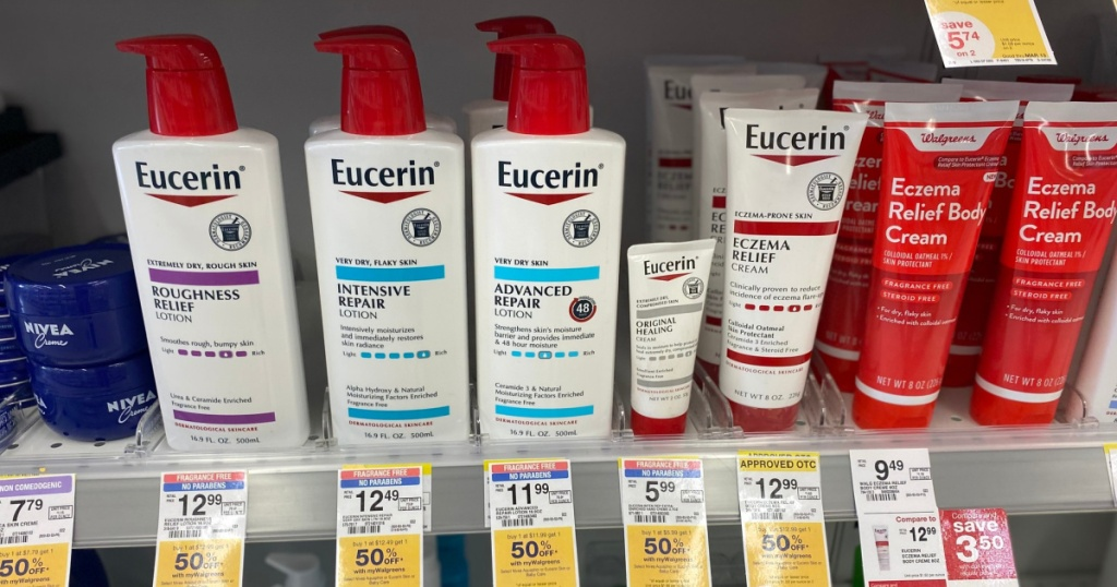 eucerin at walgreens in store