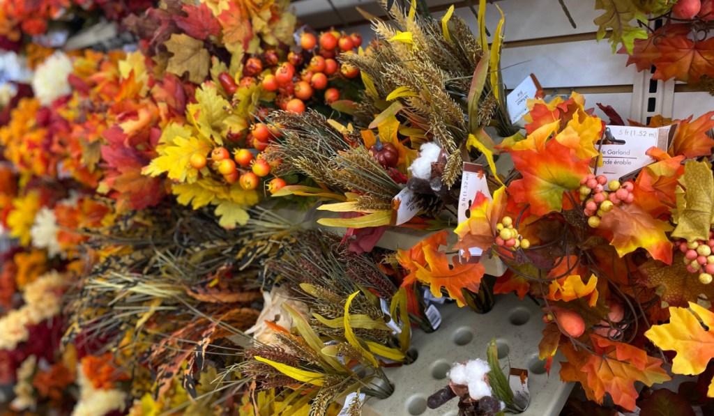 fall flowers at Dollar Tree
