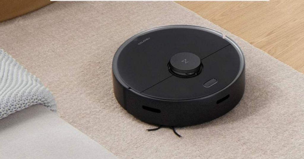 robot vacuum on carpet