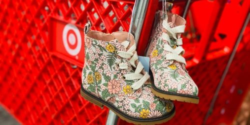 Target's Cat & Jack Floral Toddler Combat Boots Couldn't Be Any Cuter