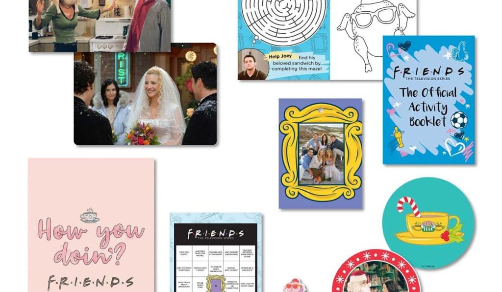 Inside of Friends advent calendar